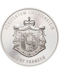 Fürstentum Liechtenstein 300 Jahre 5 Franken