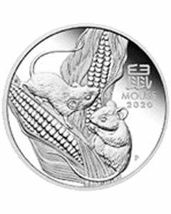 Australien Lunar III Maus 1 oz Silbermünze 2020