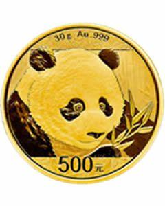 China Panda 30 g Goldmünze 2018