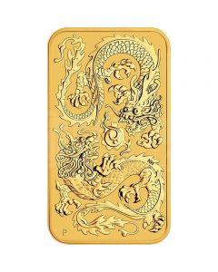 Münzenbarren Drachen 1oz Gold 2020