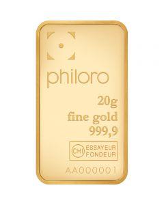 Goldbarren Philoro 20 g