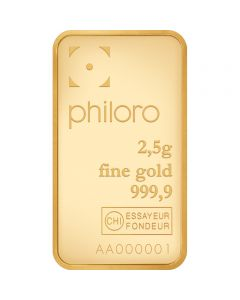 Goldbarren Philoro 2,5g