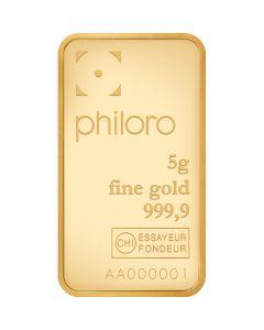 Goldbarren Philoro 5 g