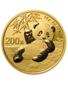 China Panda  Goldmünze 15g 2020