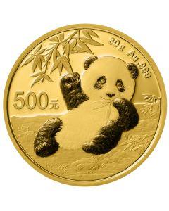 China Panda 30 g Goldmünze 2020