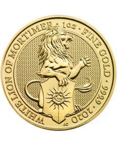 White Lion The Queens Beast Goldmünze 1 oz 2020