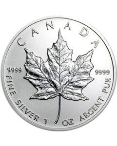Canadian Maple Leaf  1 oz Silbermünze 2012