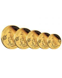 Känguru - 5 Werte Set PP 2020 Goldmünze