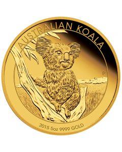 Australien Koala 5 oz Goldmünze 2015