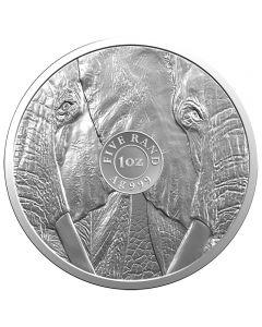 Südafrika 5 Rand Big Five Elefant 1 oz Silbermünze 2019