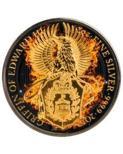 Burning Griffin Queen Beasts 2 oz Silbermünze 2017