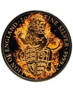 Burning Lion Queen Beasts 2 oz Silbermünze 2016