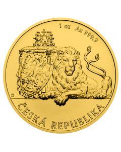 Tschechischer Löwe 1 oz Goldmünze 2019