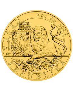 Tschechischer Löwe 5 oz Goldmünze 2019