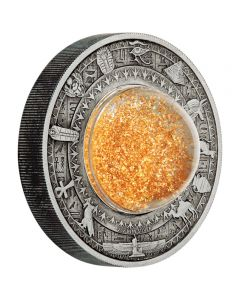 Golden Treasures of Ancient Egyt 2 oz Antik Silbermünze