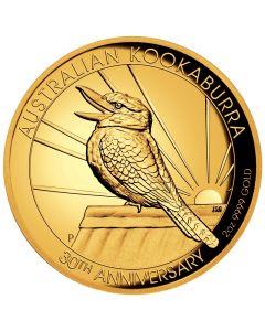 Australien Kookaburra - 30 Jahre 2 oz Goldmünze 2020