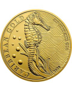 Barbados Seahorse 1 oz Goldmünze 2020
