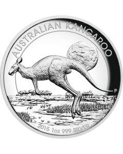 Australien Kangaroo High Relief 1 oz Silbermünze 2015