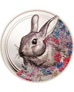 Woodland Spirit Rabbit 1 oz Silbermünze