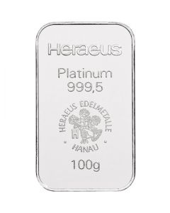 Platinbarren 100 g Heraeus