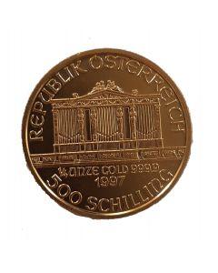 Österreich Wiener Philharmoniker 1/4 oz Goldmünze 500 Schilling
